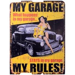 Tablou vintage cu masina