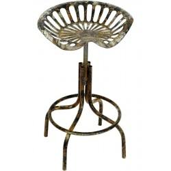 Scaun antichizat  din fier pentru bar