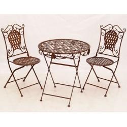 Set Antik Brown de gradina cu masa si scaune din fier forjat