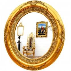 Oglinda ovala din cristal cu o rama deosebita