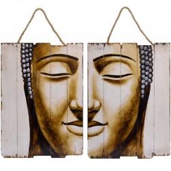 Set doua tablouri din lemn cu Budha