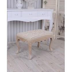 Scaun rustic bej din lemn masiv