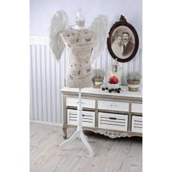 Manechin din lemn alb cu tinuta vintage