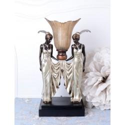 Lampa de masa Art Deco cu doua dansatoare