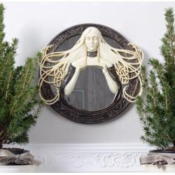Oglinda Art Nouveaux cu o femeie din alabastru