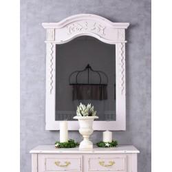 Oglinda pentru consola din lemn masiv roz