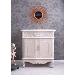 Lavoar din lemn masiv roz cu diverse decoratiuni